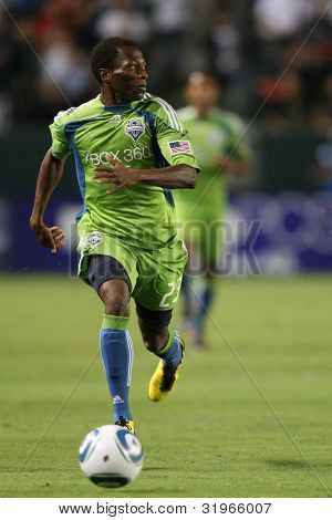 CARSON, CA. - AUG 14: Seattle Sounders M (23) SANNA NYASSI during the Chivas USA vs Seattle Sounders game on Aug 14 2010 at the Home Depot Center in Carson.