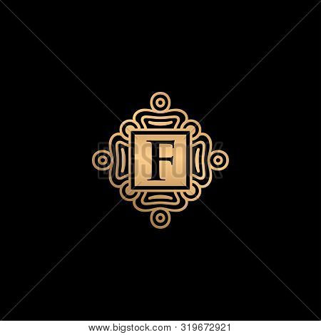 F Letter Logo, F Monogram Logo, F Letter With Ornament Logo