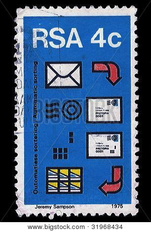 South Africa Postage Stamp Automated Post Sorting 1975