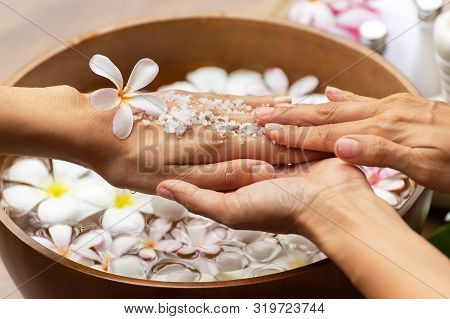 Spa Treatment And Product For Female And Hand Spa. Healthy Concept.