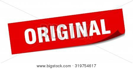 Original Sticker. Original Square Isolated Sign. Original