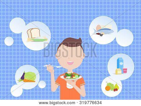 Boy Eating Healthy Vector Photo Free Trial Bigstock