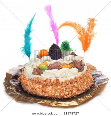 a mona de pascua, a typical spanish easter cake poster