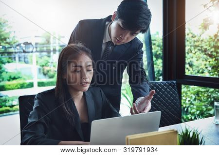 Consultation Or Market Data Research Concept, Adjustment Of Marketing Strategies Female Company Owne