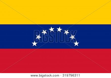 Flag Of Venezuela Vector Illustration, Worlds Flags Collection
