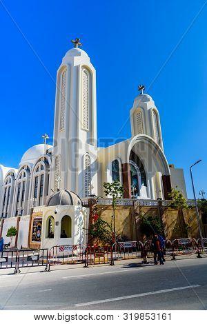 Hurghada, Egypt - December 9, 2018: Coptic Orthodox Church In Hurghada, Egypt
