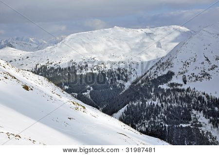 Ski Resort Saalbach, Austrian Alps At Winter