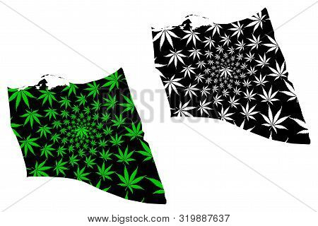 North Sinai Governorate (governorates Of Egypt, Arab Republic Of Egypt) Map Is Designed Cannabis Lea