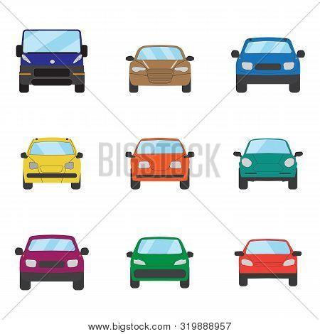 Different Transportation Car. Sedan Car, Hatchback, Universal Car, Suv, Cabriolet, Mini Car Set. Veh