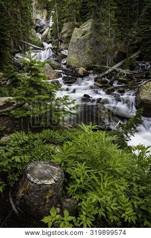 Ouzel Falls In Rocky Mountain National Park Colorado