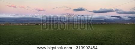 Colorado Farmland With Longs Peak Panorama