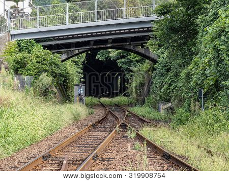 A Tunnel On The Matsuura Tetsudo Train Line, A Small Countryside Train Serving Sasebo, Saza, And Oth