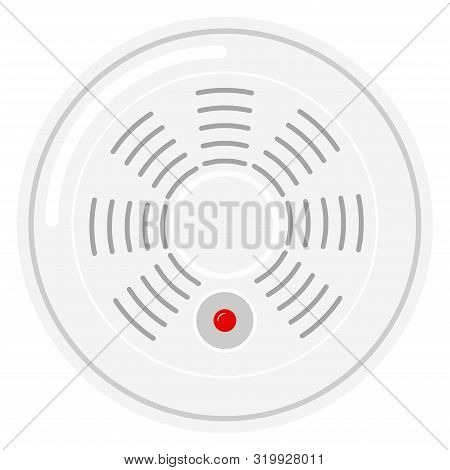 Standalone Smart Smoke Detector Icon Isolated On White Background.
