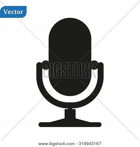 Microphone Vector Icon, Web Design Icon. Voice Vector Icon, Record. Microphone - Recording Studio Sy