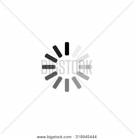 Loading Icon. Load. Load Icon. White Background. Loading Vector Icon