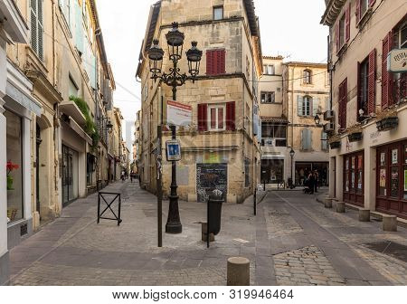 Arles, France - June 24, 2017: Street In The Old Town Of Arles In Provence. France.