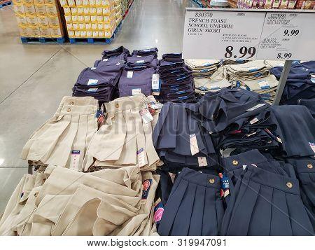Phoenix, Az - August 3, 2019:  Popular Girls Skirts With Integral Shorts Hidden Underneath On Superm