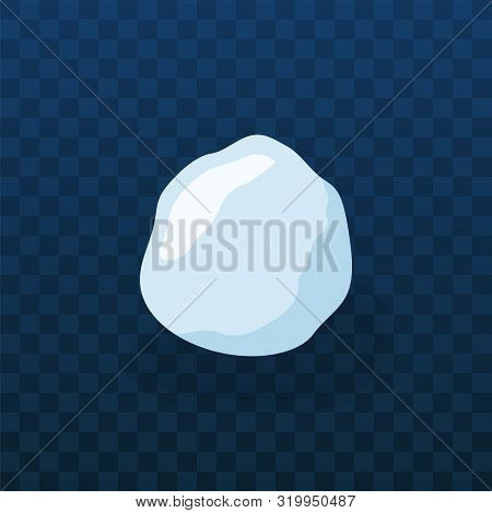 Snow Ball Ice. Winter Design Snowy Icicle Snowball. White Blue Snow Template. Decoration Isolated Tr