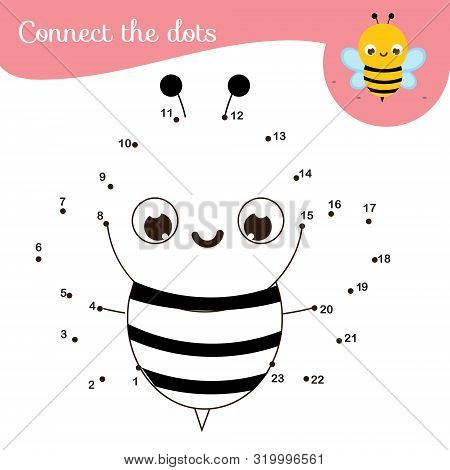 Connect The Dots. Dot To Dot By Numbers Activity For Kids And Toddlers. Children Educational Game. I