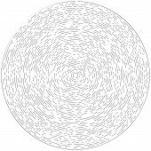 Radial ray, beam lines. Circular radiation stripes pattern. Gleam, sparkle effect. Glaze, flare, aurora design. Sunburst, starburst concentric lines as twinkle, radiance, glitter illustration. Shimmer, brilliance, glisten effect poster