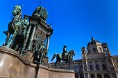 Vienna - Empress Maria Theresia Monument near Natural and Art History Museums Austria poster