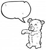 cartoon zombie teddy bear poster