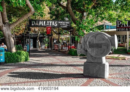 Alanya, Turkey - October 23, 2020: Sculpture Of The Georgian Sculptor Herodion Gvelesiani (irodion G