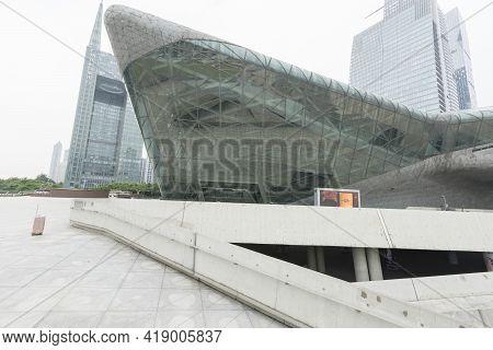 Guangzhou, China - October 23, 2018 : Guangzhou Opera House In Guangzhou, China On October 23, 2018.