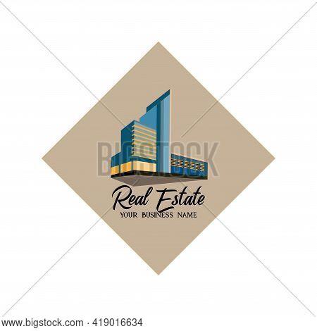 Real Estate Design Logo Business. Illustration Real Estate Business Vector