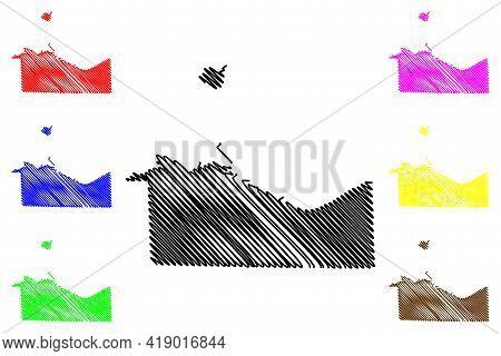 Erie County, Ohio State (u.s. County, United States Of America, Usa, U.s., Us) Map Vector Illustrati