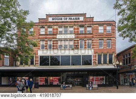 Carlisle, Cumbria, Uk, August 2020 - Shop Facade In The City Of Carlisle, Cumbria, Uk