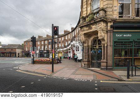 Carlisle, Cumbria, Uk, August 2020 - The Crescent In The City Of Carlisle, Cumbria, Uk