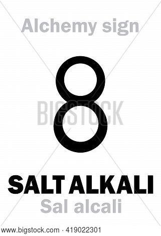 Alchemy Alphabet: Salt Of Alkali (sal Alcali), Alkaline Carbonate (rare.: Hydroxide), Term Used For