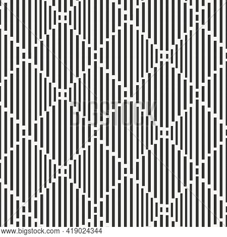 Geometric Vector Pattern, Repeating Linear Stripe On Squares Diamond Shape. Pattern Is On Swatches P