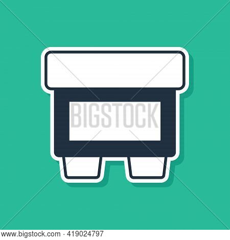 Blue Fuse Of Electrical Protection Component Icon Isolated On Green Background. Melting Breaking Pro