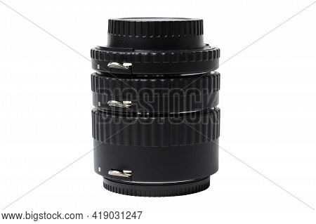 Set Of Macro Rings For Slr Camera For Macro Photography