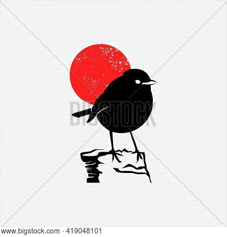 Robin Bird Logo Design Cute Animal Mascot Vector Art And Nature Graphic Element Template And Ideas