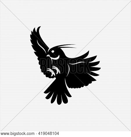 Flying Robin Bird Logo Design Cute Animal Vector Art And Nature Graphic Element Template And Ideas