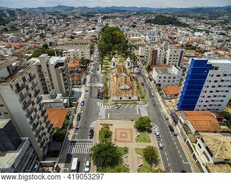 Tourist Cities In Brazil. City Three Hearts, Minas Gerais State, Brazil.