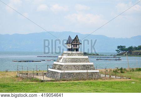Angel Deity God In Small Shrine Beside Danau Batak Toba Lake For Indonesian People Foreign Traveler