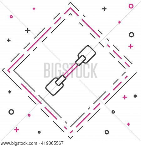 Line Paddle Icon Isolated On White Background. Paddle Boat Oars. Colorful Outline Concept. Vector Il