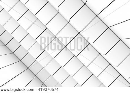 Black And White Stairs Abstract Background 3d Render Illustration
