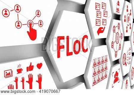 Floc Concept Cell Background 3d Render Illustration