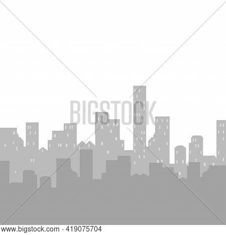 Skyline Cityscape Silhouette Skyscrapers, Business Template. City, Skyline District, Building Metrop