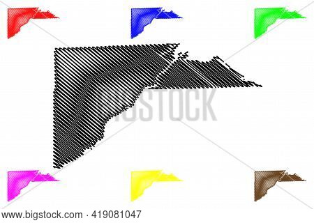 Lucas County, Ohio State (u.s. County, United States Of America, Usa, U.s., Us) Map Vector Illustrat