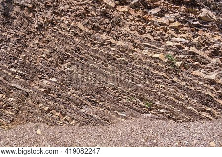 Beautiful Natural Stone Background, Texture Of Rock In Dinaric Alps. Montenegro