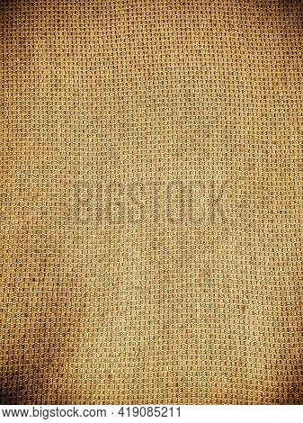 Old Khadi Cloth Texture Background. Light Natural Linen Texture For The Background.\ngolden Yellow L