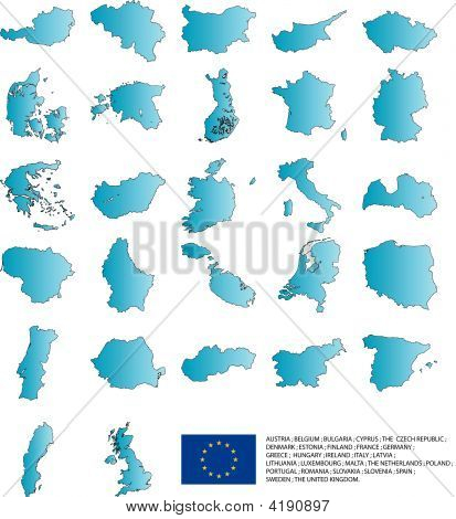 Maps Of European Countrys