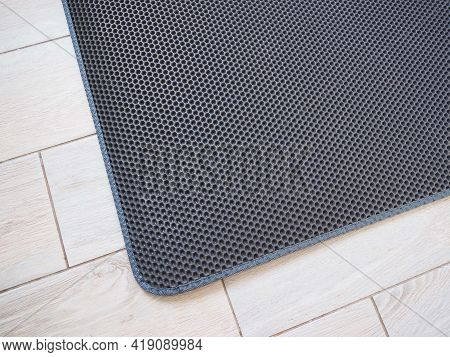 A Beautiful Rug In The Hallway Of A House Or Apartment. Entrance To A House Or Apartment.