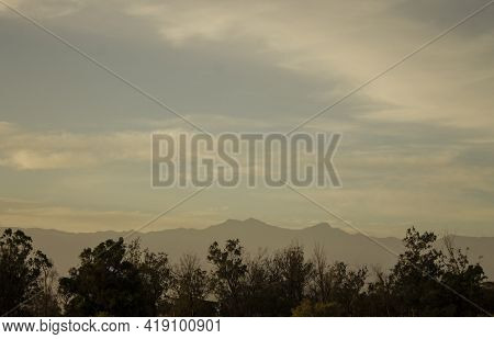 Sunset In The Mountains.landscape.sunset.forest.mountains.moutains Landscape.forest Landscape.sunset